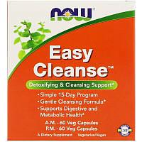 Now Foods, Easy Cleanse, 2 бутылочки, по 60 вегетарианских капсул каждая