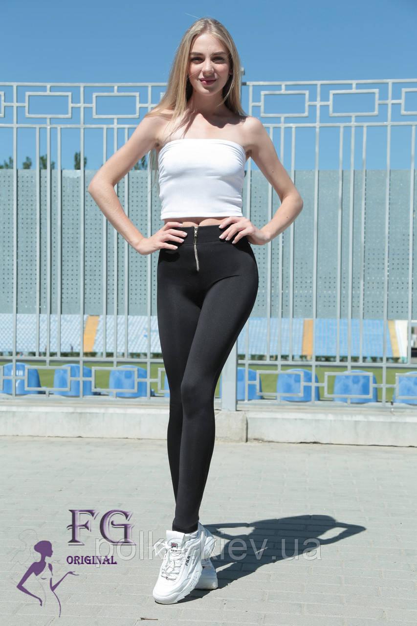 """Модные женские лосины """"Roxy"""" - норма черный, 48"""