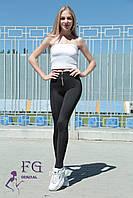 """Модные женские лосины """"Roxy"""" - норма черный, 48, фото 1"""