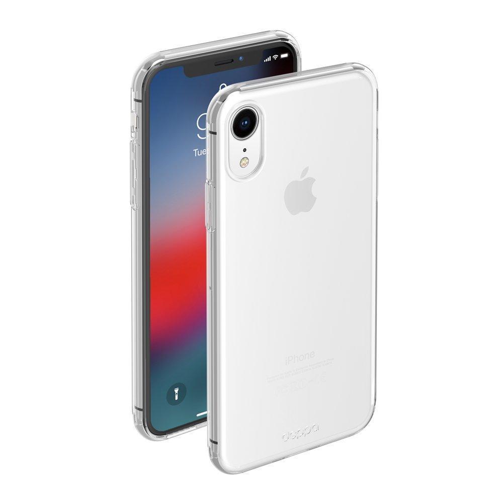 Силиконовый прозрачный чехол на iPhone XR ОПТ