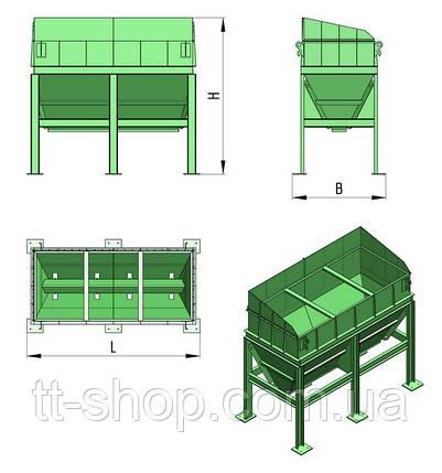Бункер хранения инертных материалов (песка и щебня) с ленточным питателем БП-ЛП, фото 2
