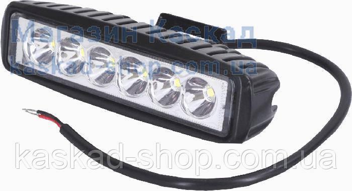 LED фара рабочего света 18W/30 (6x3W) 1320 Lm узкий луч, фото 2