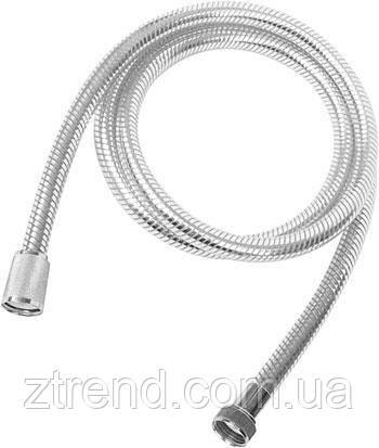 Душевой шланг STRONG с хромовой полосой и усиленный пружиной 1,5 м.
