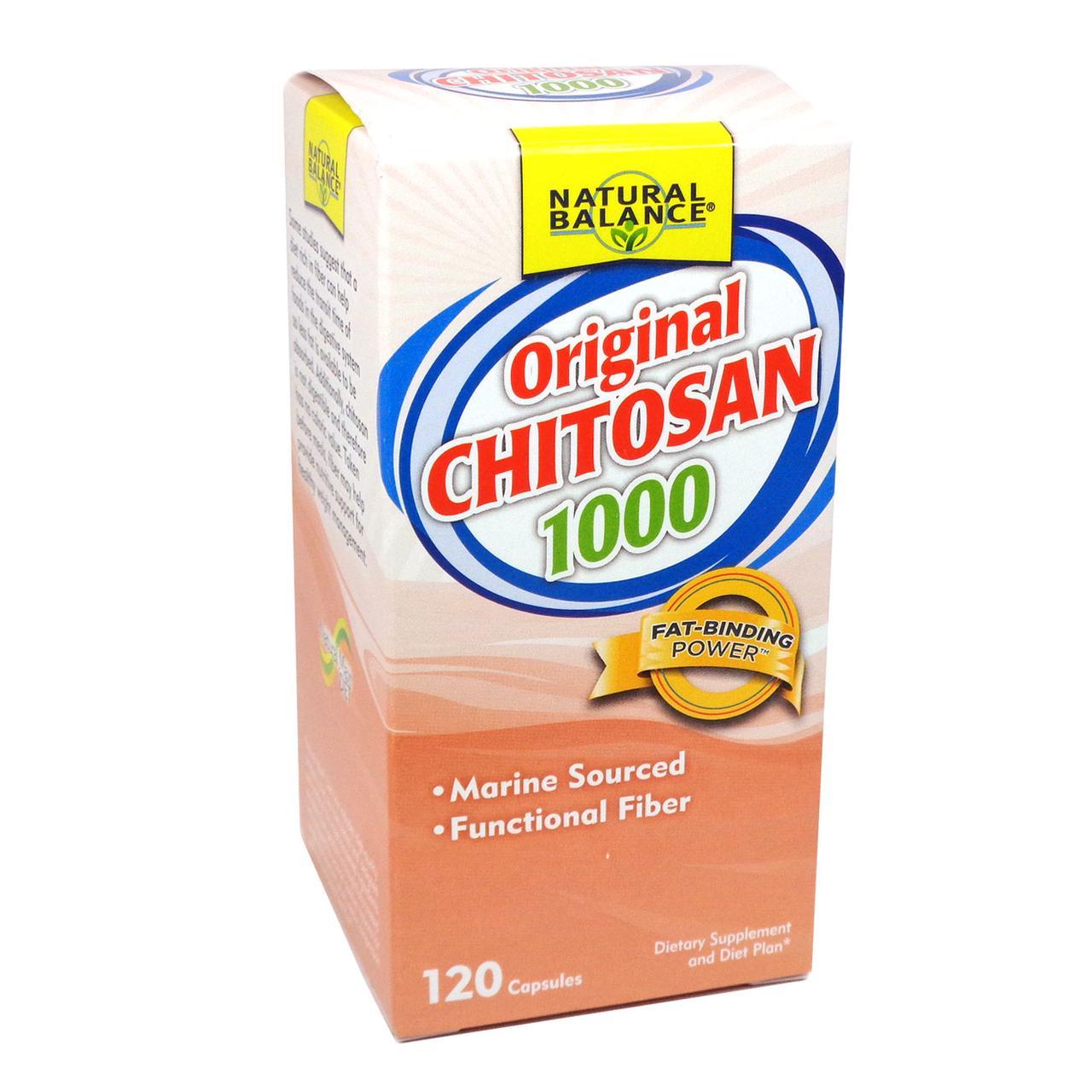 Хитозан, Natural Balance, 1000 мг, 120 капсул