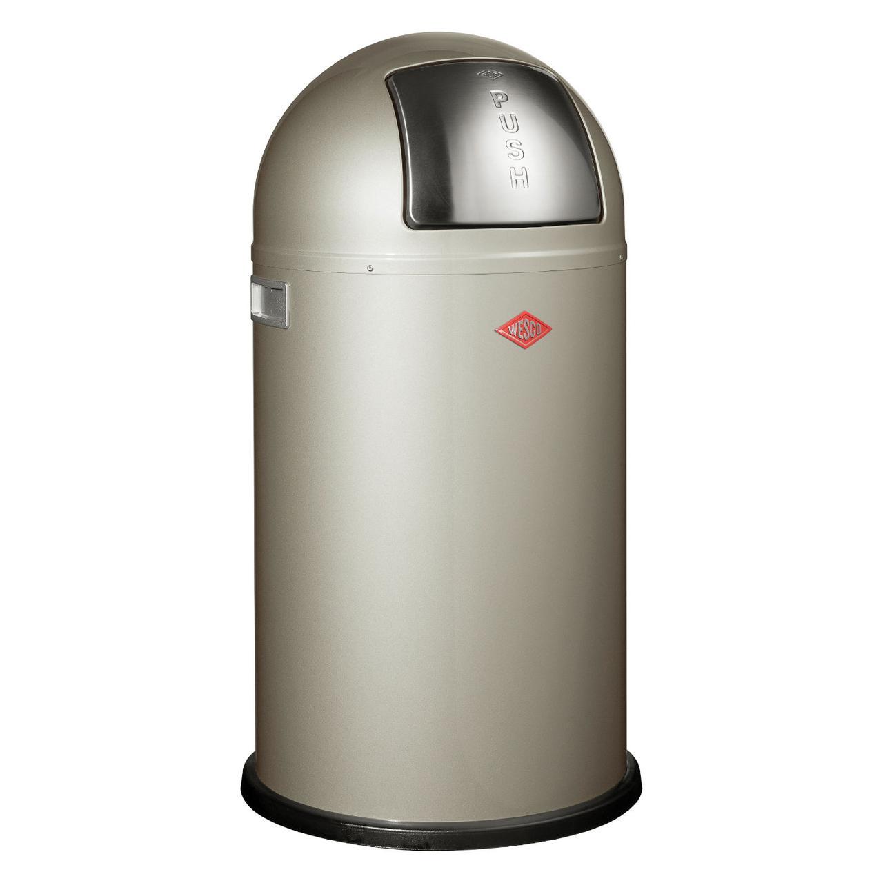 Відро для сміття Wesco Pushboy 50 л срібло 175831-03
