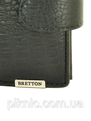 """Большой кожаный мужской кошелек  Bretton. Black Edition """"Рептилия"""", фото 2"""
