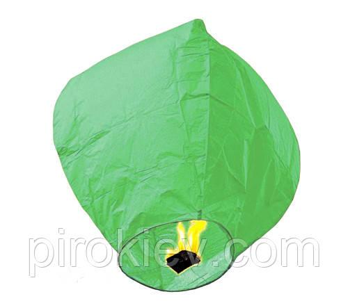 Небесный фонарик купол зеленый SKF-004