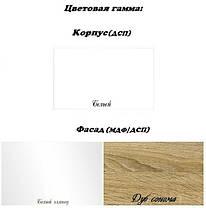 Шкаф 2Д Ск Бьянка Белый глянец/Дуб сонома (Світ Меблів ТМ), фото 3