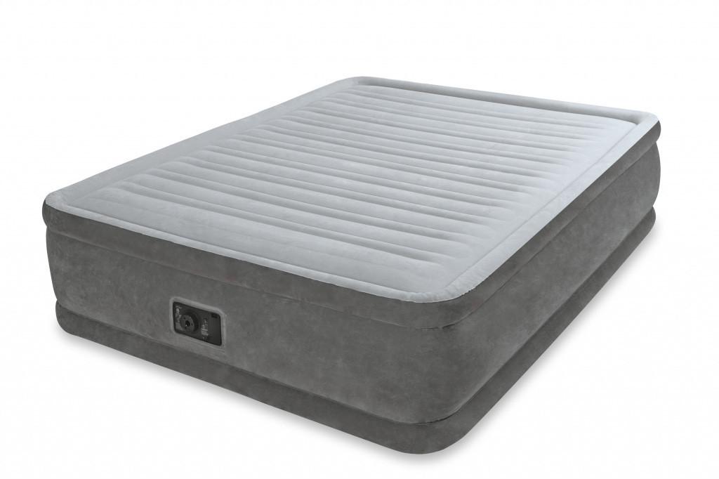Надувная кровать с насосом и сумкой 152х203х46 см Intex