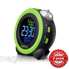 Электронный будильник зеленый GOTIE GBE-300Z