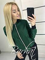 """Легкая женская куртка-ветровка """"Oxy"""" зеленый, 42-44"""