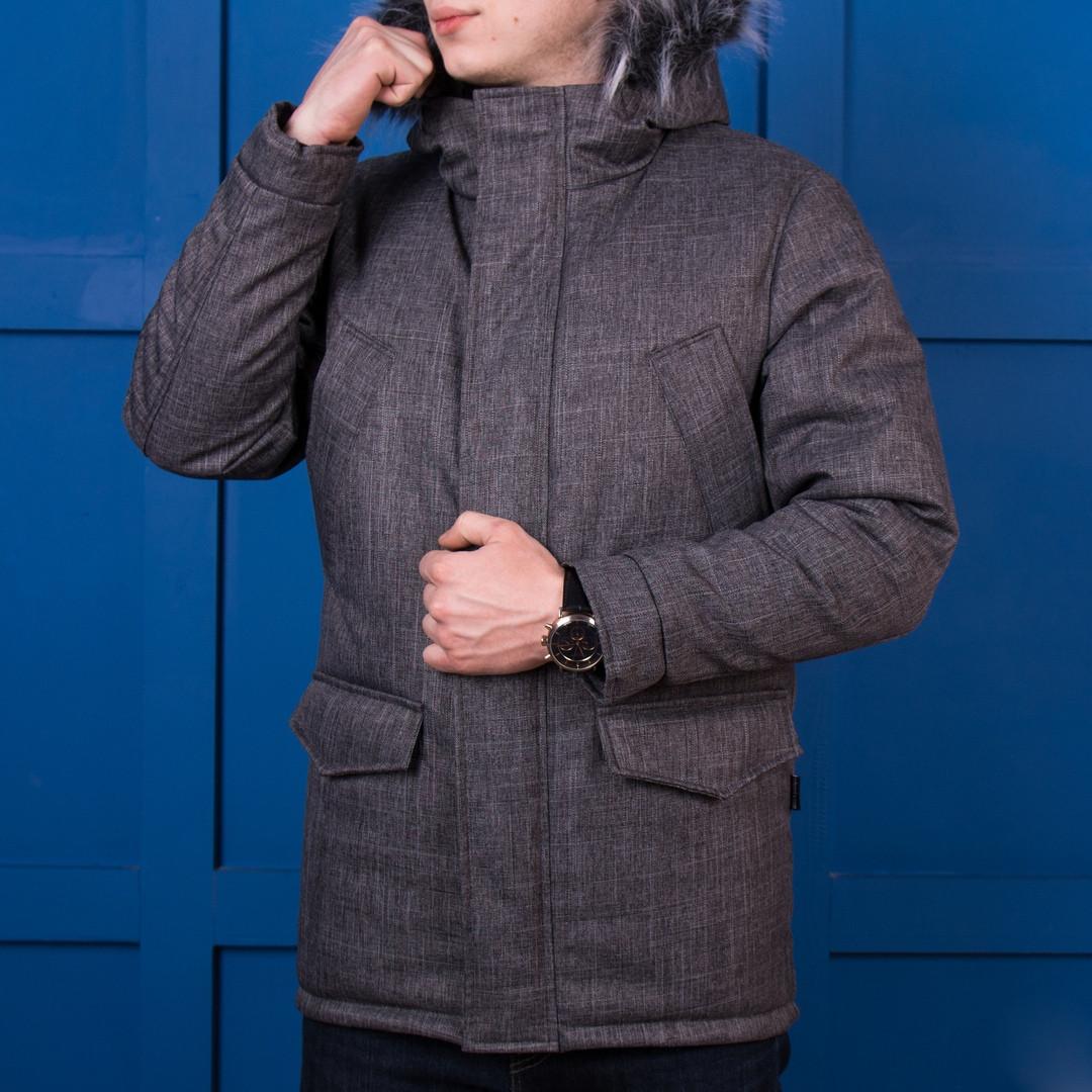 Куртка мужская зимняя серая. Куртка чоловіча зимова.ТОП КАЧЕСТВО!!!