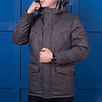 Куртка мужская зимняя серая. Куртка чоловіча зимова.ТОП КАЧЕСТВО!!!, фото 1