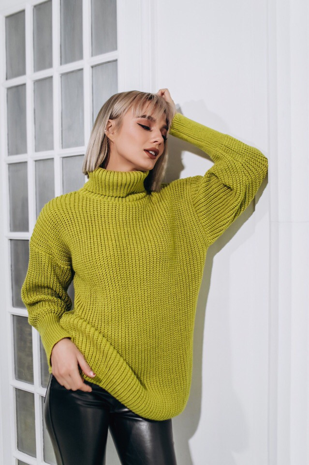 вязаный свитер городок фисташка 4 цвета продажа цена в одессе