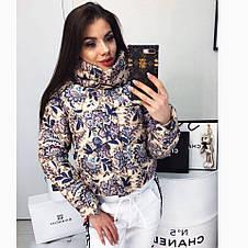 Куртка короткая с принтом цветы, фото 3