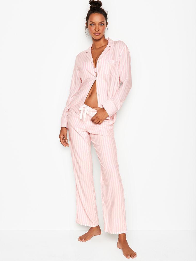 Victoria's Secret Теплая Пижама The Flannel PJ XS, Розовый