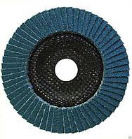 Круг лепестковый торцевой (КЛТ) 125х22 Р80 циркониевый