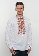 Белая вышитая рубашка мужская, арт. 4222