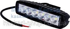 LED фара рабочего света 18W/60 (6x3W) 1320 Lm широкий луч