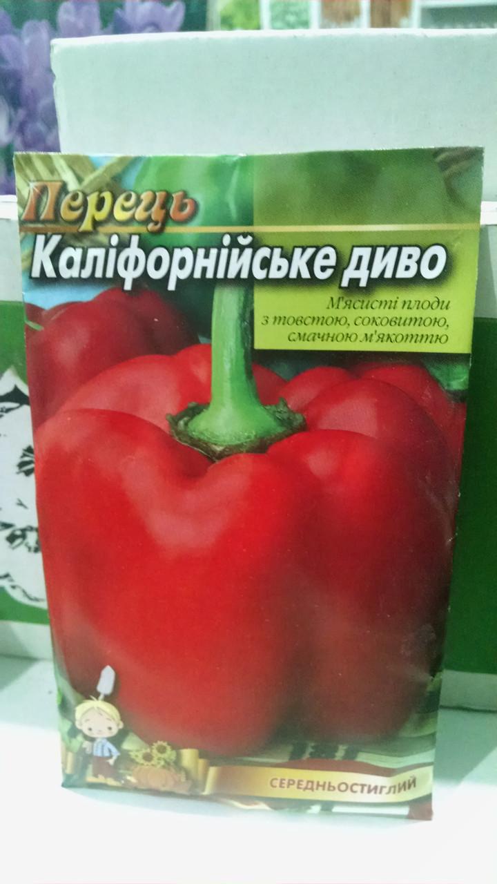 Семена Перец среднеранний  Калифорнийское чудо 10 грамм семян в упаковке Германия