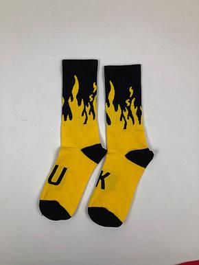Носки For VDay Огонь - Высокие - Черно-желтый, фото 2