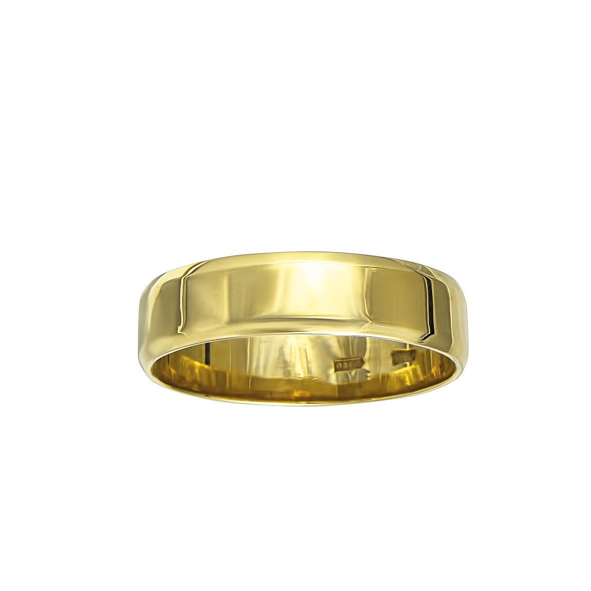 Обручальное кольцо шайба 585
