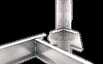 Стеллаж Бюджет (2000х1000х400) крашенный, СИНИЙ, на зацепах, 5 полок, ДСП, 175 кг/полка, фото 2