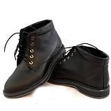 Ботинки кожаные мужские на шнуровке, цвет черный, фото 5