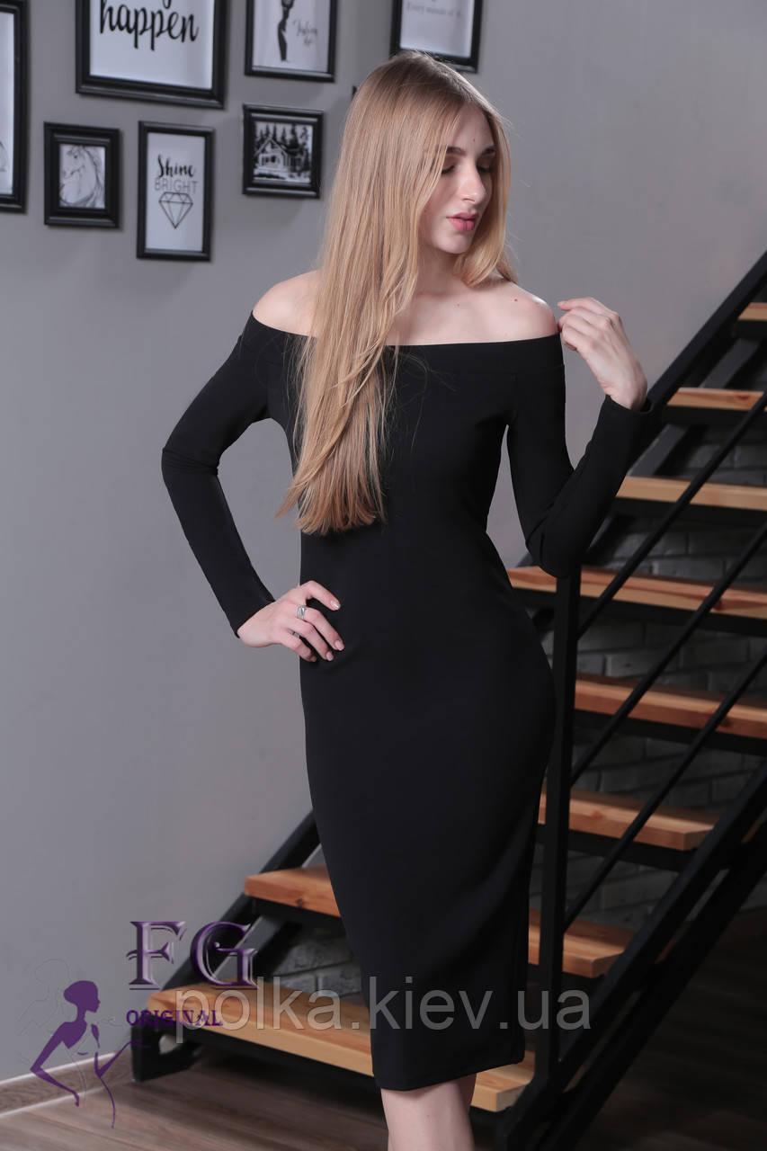 """Платье с открытыми плечами """"Candys"""" 42, черный"""