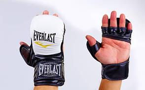 Перчатки гибридные для единоборств MMA PU ELAST BO-4612-WBK