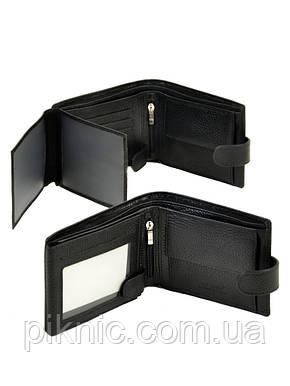 Большой кожаный мужской кошелек  Bretton. Black Edition., фото 2