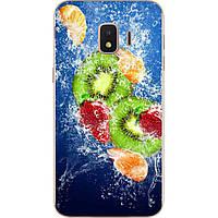 Силиконовый чехол бампер для Samsung J2 Core J260 Galaxy 2018 с картинкой Фрукты в воде