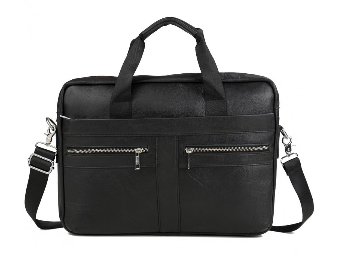 Деловая мужская сумка в формате А4 из натуральной кожи в черном цвете Bexhill Bx1120A