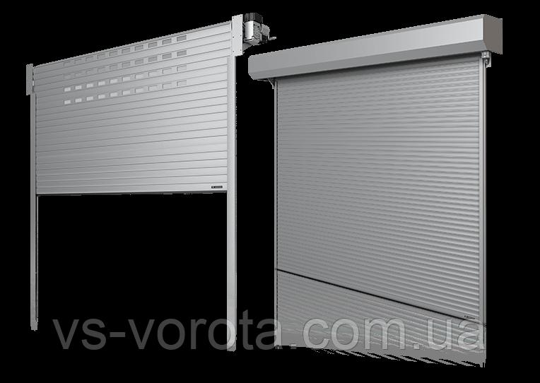 Ворота роллетные в гараж, Размер 2900х2200 мм, алюминиевые автоматические