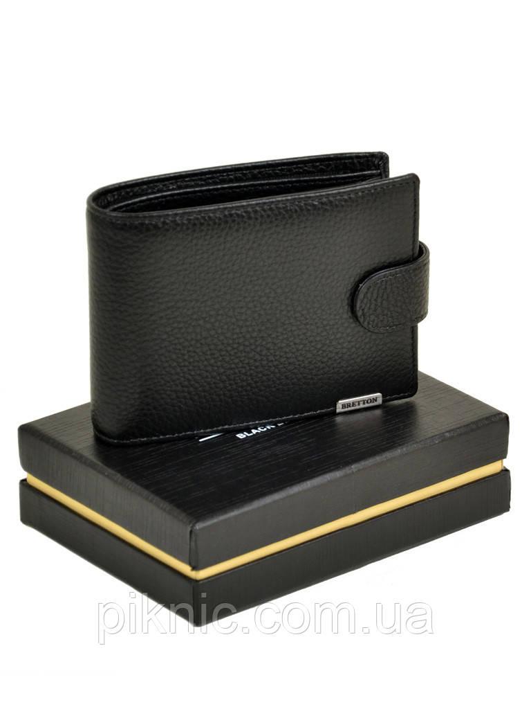 Кожаный мужской кошелек  Bretton. Black Edition блок для карт