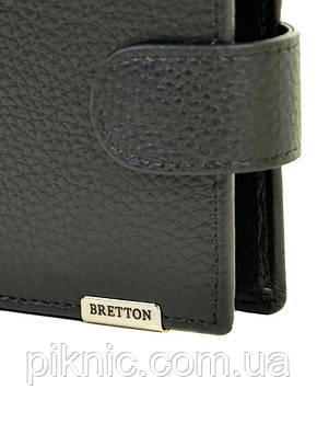 Кожаный мужской кошелек  Bretton. Black Edition блок для карт, фото 2