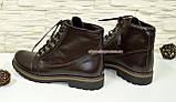 Ботинки демисезонные женские кожаные коричневого цвета, фото 3