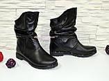 Ботинки женские кожаные демисезонные свободного одевания, фото 2