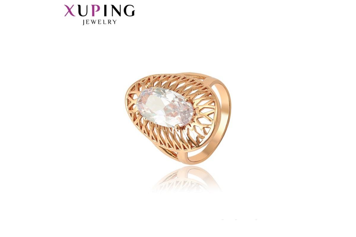 Кольцо Xuping розовая позолота - 18размер