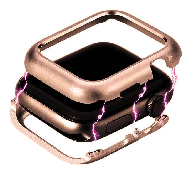 Металлический магнитный корпус Primo для Apple Watch 38 mm - Rose Gold
