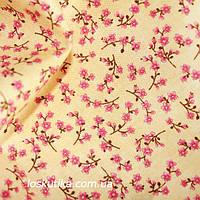 32006 Крохотное совершенство. Ткань в мелкий цветочек. Ткани для одежды кукол, для пэчворка и рукоделия.