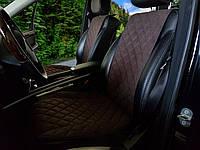 Накидки на сиденья темно-коричневые. Передний комплект. ШИРОКИЕ. Авточехлы