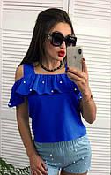 """Летняя блузка с воланом и бусинами """"Адажио"""", фото 1"""
