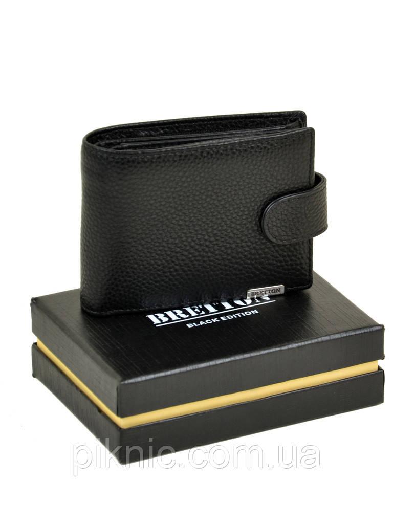 Кожаный мужской кошелек  Bretton. Black Edition
