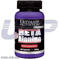 Ultimate Nutrition Beta-Alanine 750mg бета-аланин аминокислота рост мышц восстановления спортивное питание