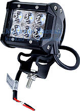LED фара рабочего света 18W/60 (6x3W) 1380 Lm широкий луч