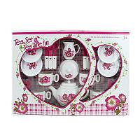 Детская игрушечная посуда - чайный сервиз на 4 персоны,LN882A
