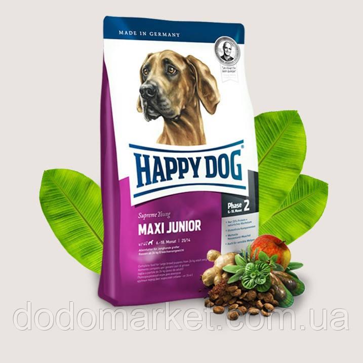 Сухой корм для щенков крупных пород Happy Dog Supreme Maxi Junior 4 кг