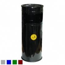 Урна-пепельница, оцинкованная, окрашенная, черная, 25 л