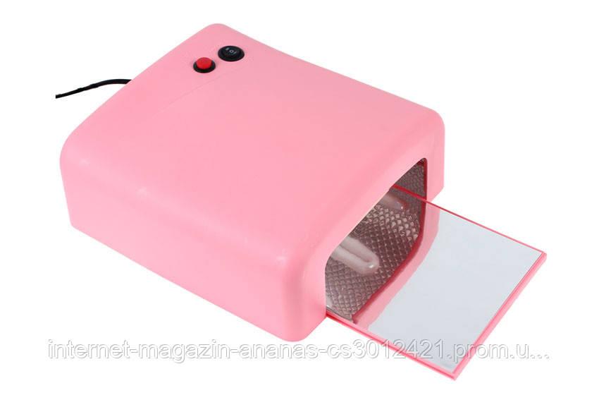 УФ Лампа сушка 36Вт таймер 120с + 4 лампочки